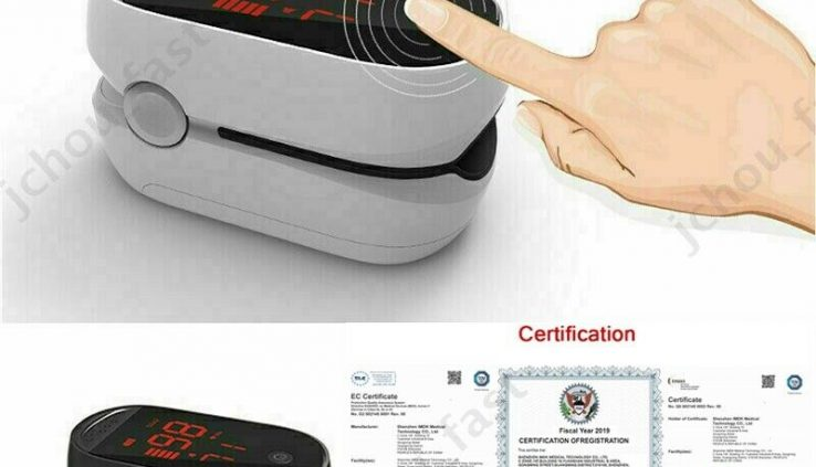 FDA LED Finger Pulse Oximeter Blood Oxygen Sensor SPO2 PR PI Heart Rate Video show