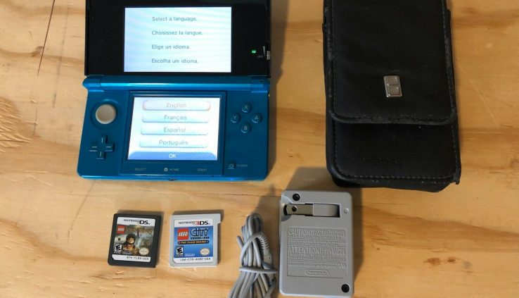 Nintendo 3ds with games, case and charger