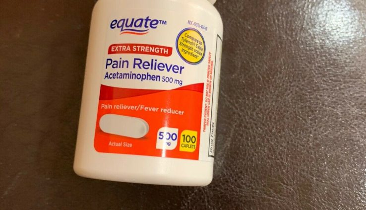 Equate Additional Strength Acetaminophen Danger Reliever/Fever Reducer 500mg 100 Caplet