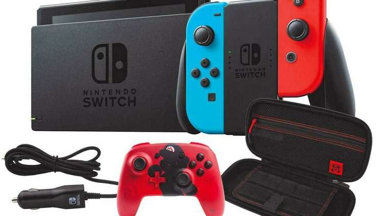 NEW Nintendo Switch Bundle + Controller + Car Charger + Case + FREE ACCESSORIES!