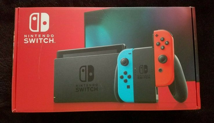 Nintendo Switch Console with Neon Blue & Crimson Pleasure-Con