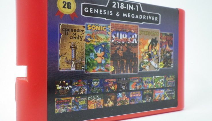 Astronomical 218 in 1 Sega Genesis & Mega Force Multi Cart 16-Bit Sport Cartridge