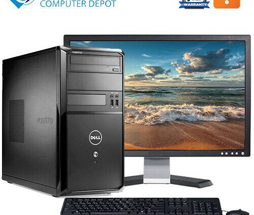 Dell Vostro Desktop Computer Tower | Intel 8GB 1TB HD 22″ LCD Wifi | Dwelling windows 10