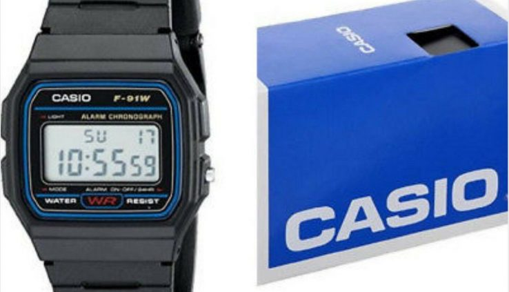 Casio F-91-W-1 Men's Resin Band Water Resistant Scare Chronograph Digital Notice