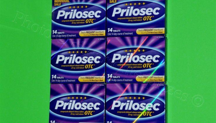 Prilosec OTC 84 Tablets TOTAL 14ct Bins x 6 Omeprazole Heartburn 42 EXP: 2021