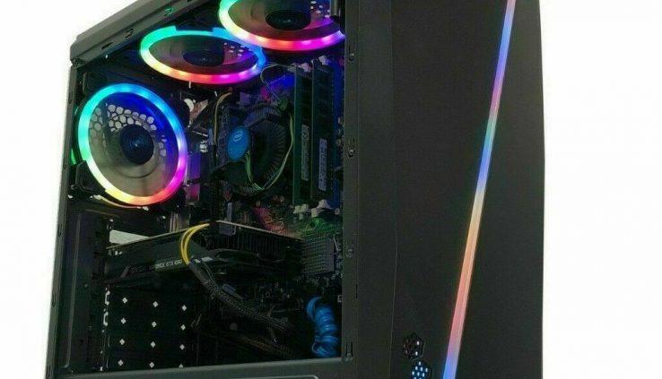 Gaming PC Desktop Computer RGB i7 Intel 2TB HDD 8GB RAM GTX 1060 Nvidia