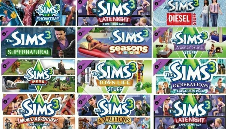 THE SIMS 3 + ALL Expansion Packs Steam PC (FULL GAME) Read the Description !