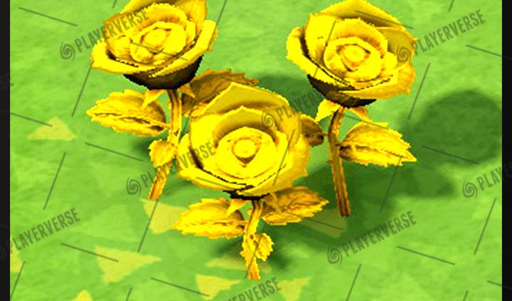 Animal Crossing New Horizons – Hybrid Roses (Black/Gold/Red)  – Flower Plant life