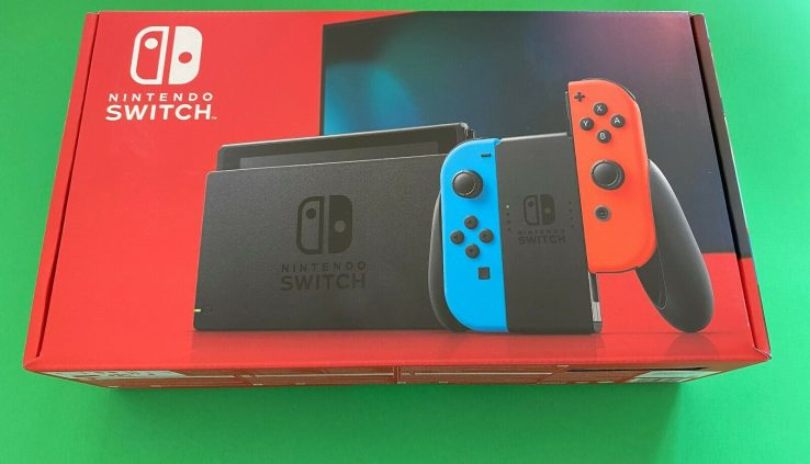 BRAND NEW SEALED NEWEST VERSION V2 Nintendo Swap 32GB Console Neon *IN HAND*