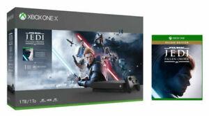 Microsoft Xbox One X 1TB Celebrity Wars Jedi: Fallen Present Bundle