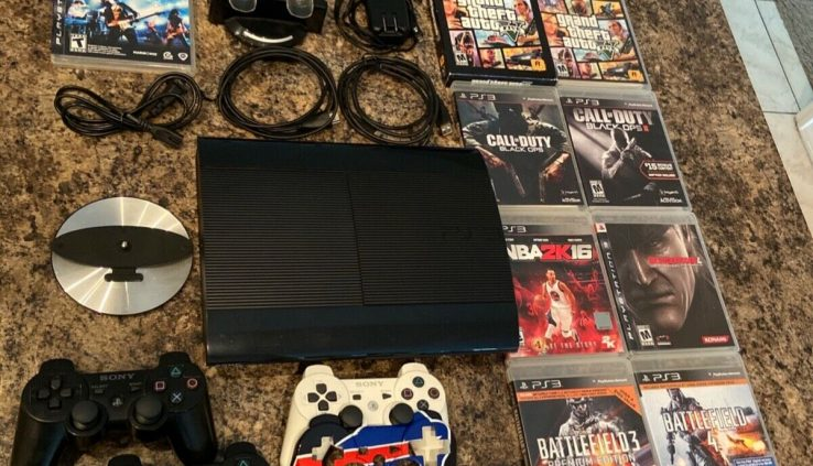Playstation3 Slim 250GB with Vertical Stand and 16 PS3 games [Read]