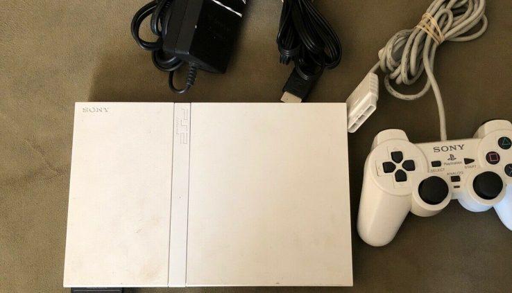 Ps2 Slim Console White Full