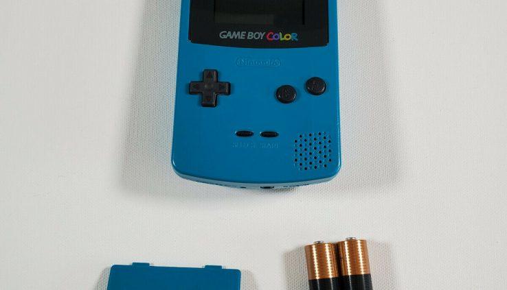 NINTENDO GAMEBOY COLOR GBC CGB-001 TEAL BLUE; TESTED; CGB 001; GAME BOY