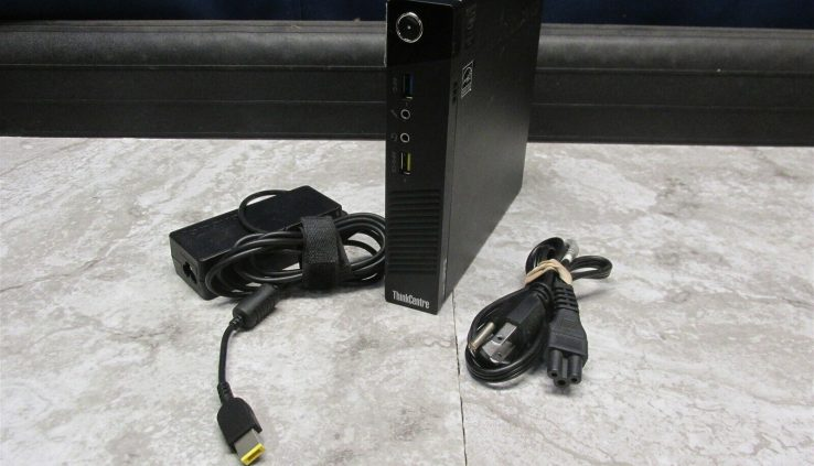 LENOVO THINKCENTRE M93p TINY CORE i5-4570T 2.90GHz 4GB PC COMPUTER w/ PWR SUPPLY