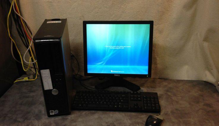 Windows xp Dell Desktop pc Immediate duo core 19″ Song keyboard mouse 2.66Hz