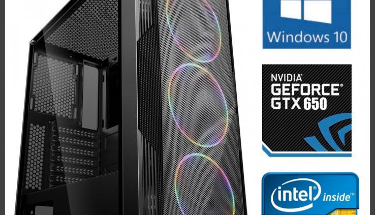 Intel i5 Quad Core Gaming Computer Desktop PC Tower 8GB, 1TB, NVIDIA GTX 650