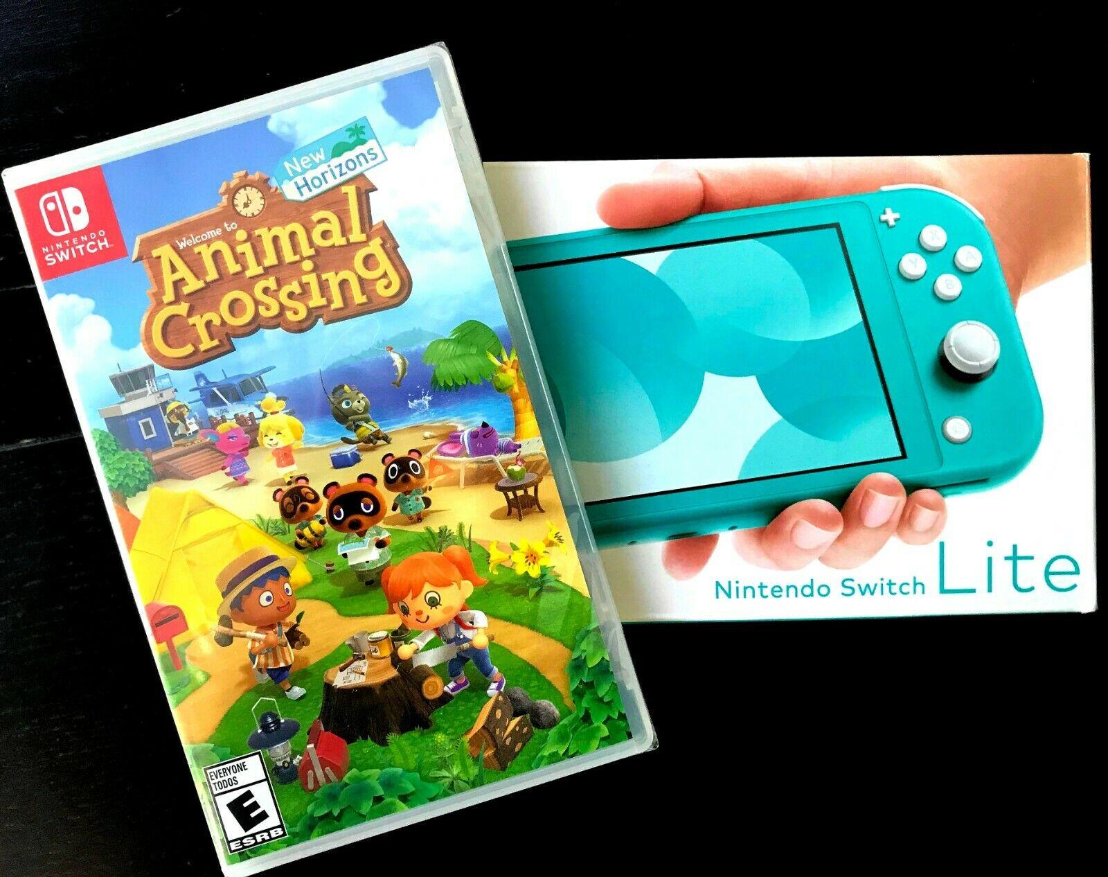 NEW IN BOX Nintendo Swap Lite Turquoise w/ Animal Crossing ...