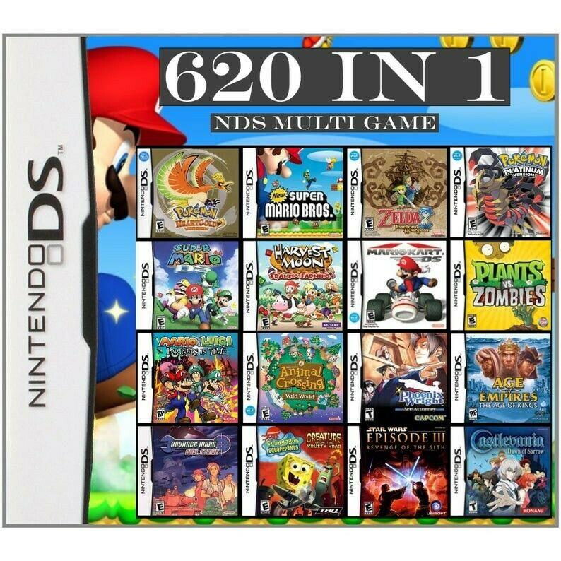 Nintendo ds games cartridge multi games console games