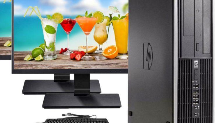 HP Desktop Computer 16GB 2TB 480GB SSD Quad Core i5 Windows 10 Authentic PC 22″ LCD