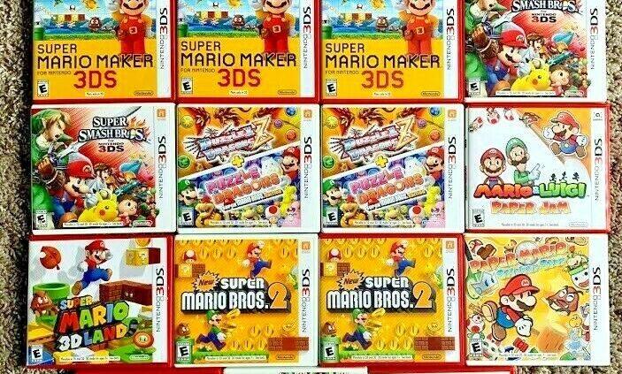 Nintendo Mario 3DS & DS Video games Mario Kart Sizable Shatter Bros. Mario & Luigi U PICK!