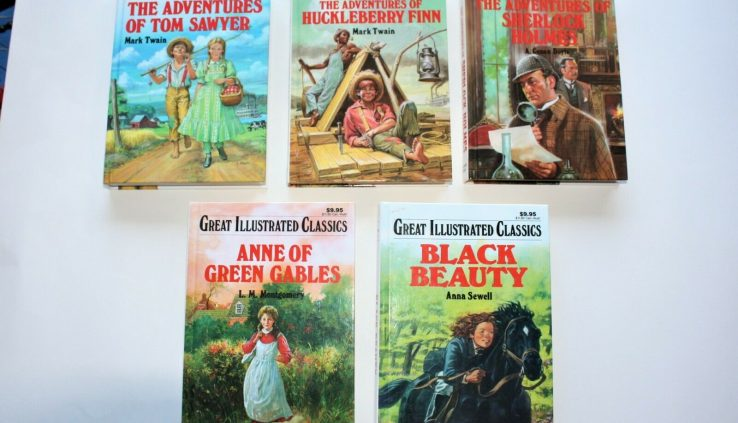 """Enormous Illustrated Classics Books Many Titles- 57 From """"A"""" To """"Z"""""""