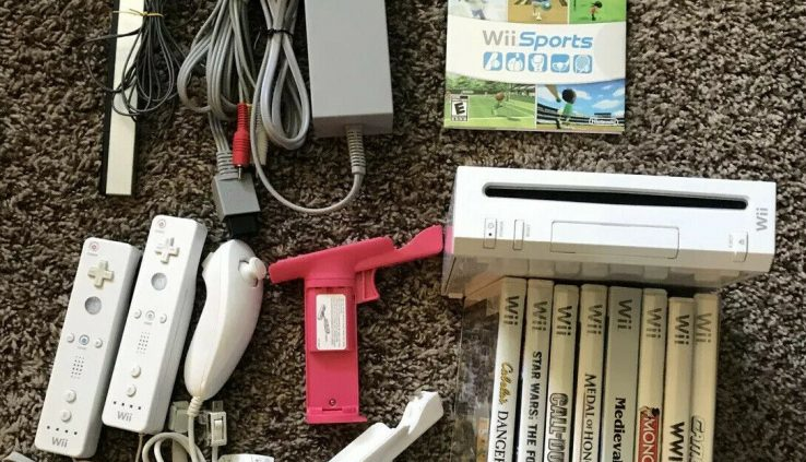Nintendo Wii Sports Sport Console Bundle Wii Draw – Tested w/ 9 Wii Store Video games