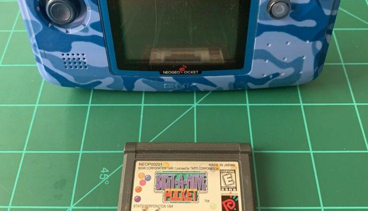 SNK Playmore Neo Geo Pocket Blue Camo Handheld Gadget w/ New Memory Battery