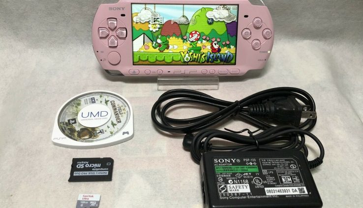 Sony PSP 3000 Purple Draw with 1 game & Memory Card Bundle