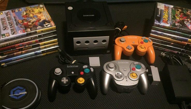 Nintendo Gamecube Bundle Wavebird Spice Video games – Rupture Melee Mario Kart Metroid
