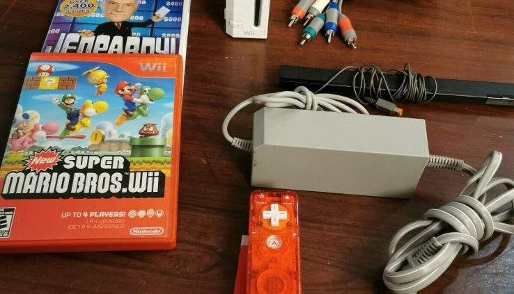 Nintendo Wii White Console (NTSC) New Sizable mario bros Wii and Jeopardy